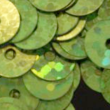 10mm Hologram Lime Green Flat Round Sequins