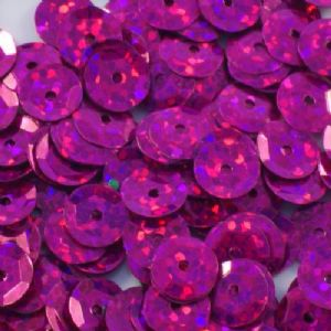 6mm Hologram Cerise Semi-Cupped Sequins x 12g