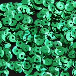 6mm Metallic Green Semi-Cupped Sequins x 12g