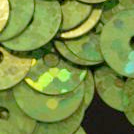 Bulk Bag 100g 10mm Hologram Lime Green Flat Round Sequins.