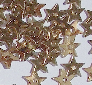 Value Pack 5mm Metallic Gold Star Sequins x 50g.